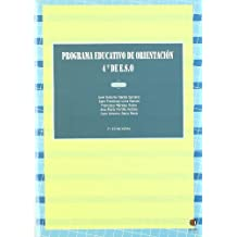 Programa Educativo De Orientación. 4º De E.S.O.