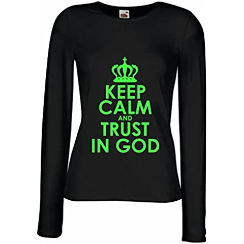 Maniche lunghe femminili T-shirt Trust in God! Jesus shirt christian gifts jesus christ clothing