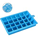 Cpixen 24 Ice Cube Hot Silicone Freeze Mold Bar Pudding Jelly Chocolate Maker Mold Box Cold Drinking