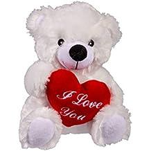 OOTB Oso de Peluche con corazón Rojo, I Love You, Aprox. 22 cm