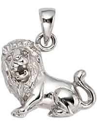 El signo de Leo colgante Jobo 925 plata esterlina chapado en rodio