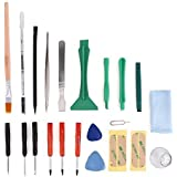 MMOBIEL 22-in-1 Universal Repair Toolkit - Adhesive Stickers Opening Tools, PVC Suction Cup Screwdriver Set for Smartphones, iPad (Multicolour)