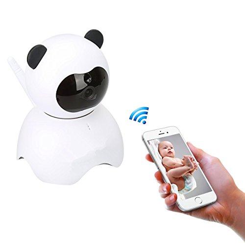 Esicam baby per monitor con visione remota /videocamera panda giocattolo stile p2p 720p ip ptz dome sorveglianza wifi di sicureza , obiettivi ruotabile, audio bidirezionale, modalità notturna , scheda sd account cloud ios e android e pc
