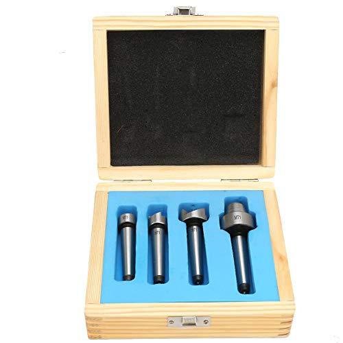 Zerone 4PCS MT1 / MT2 Holzdrehmaschine Spur Cup Center Set für Holzdrehwerkzeug (MT1)