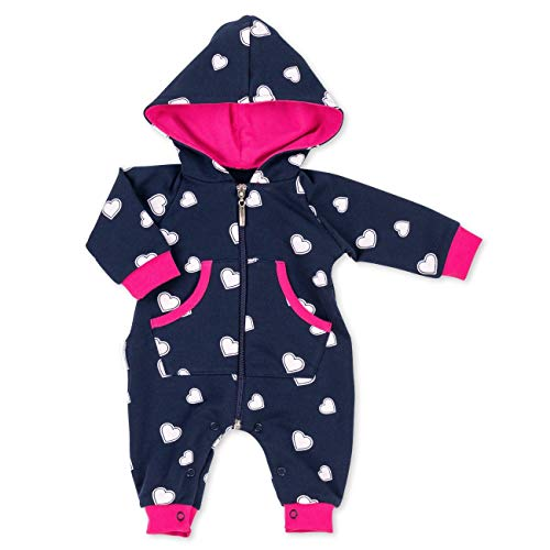 Tier Overall - Baby Sweets Overall Mädchen Schwarzblau pink