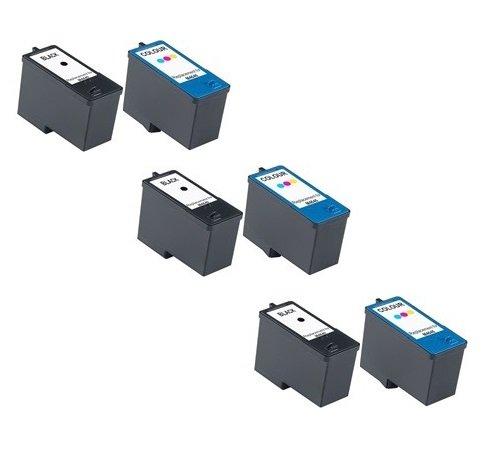 Prestige Cartridge KX701/KX703 6 Cartucce d'Inchiostro Compatibile per Stampanti Dell All-In-One 948/V505/V505w, Nero/Colore