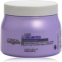 L'Oréal Professionnel Expert - Liss Unlimited Keratinoil Complex - Mascarilla alisadora intensa de 4 días para cabellos rebeldes - 500 ml