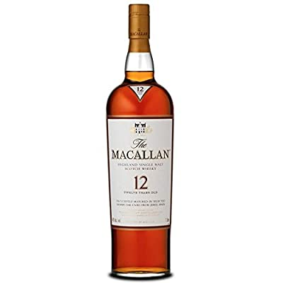 The Macallan 12 Year Old Sherry Oak Single Malt Scotch Whisky 70cl Bottle x 2 Pack