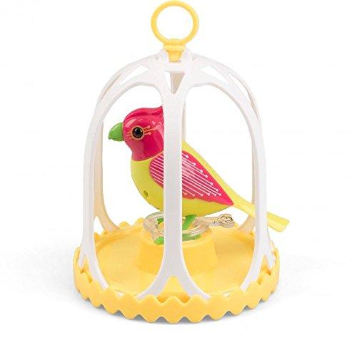 teraktiver Spielzeugvogel mit Käfig und Pfeifring, ca. 13 x 11 cm, sortiert (Vogel Pfeift)