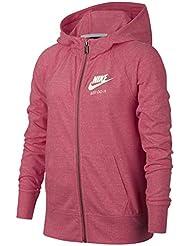 Nike Girls Sportswear Vintage Hoodie Sudadera, Niñas, Coral/Azul, ...