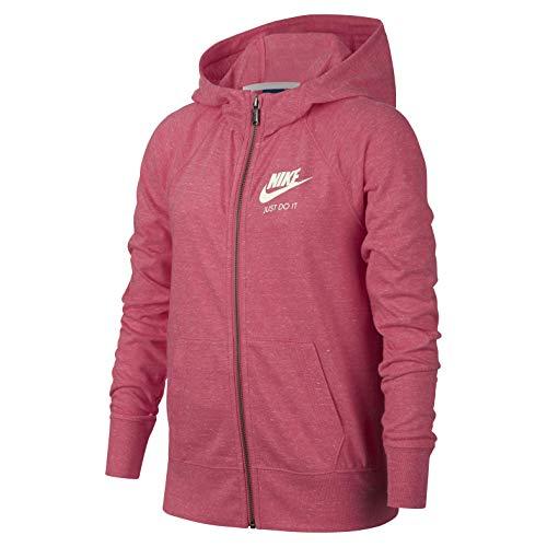 Nike Girls' Sportswear Vintage Hoodie Sudadera, Niñas, Coral/Azul, XL