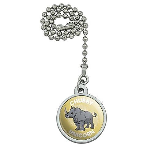 Chubby Unicorn Rhino Nashorn Deckenventilator und Licht Pull Kette