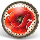 Anillo cabochon adorno'amapola bonita', regalo de navidad, regalo de mujer, regalo de san valentín, idea de regalo, regalo de cumpleaños, bronce (ref.89)