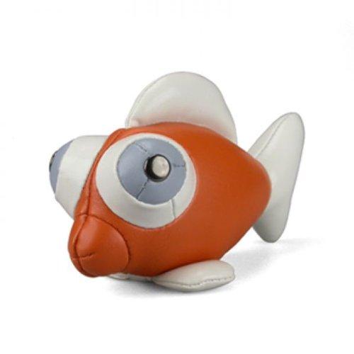zuny-goldfisch-briefbeschwerer-klein-orange-goldfish-orange-white