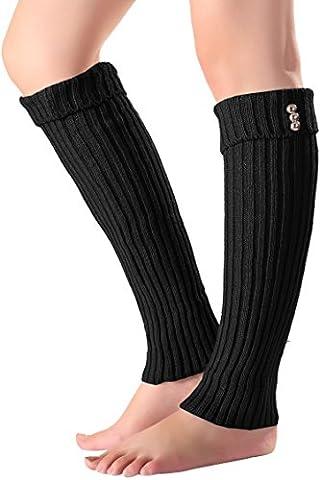 Women Knit Crochet Leg Warmers Long Boot Socks Leggings Knee