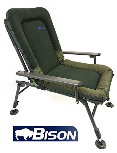 Bison forro polar comodidad carpa pesca silla de camping