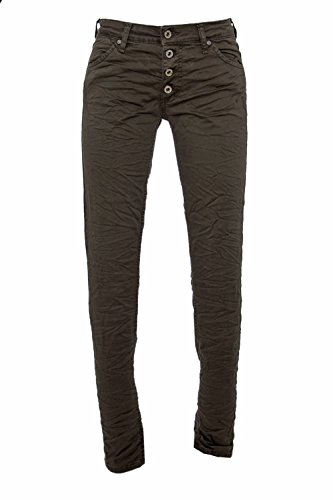 PLEASE - P90cdr74u1 jeans pantaloni donna slim Verde scuro