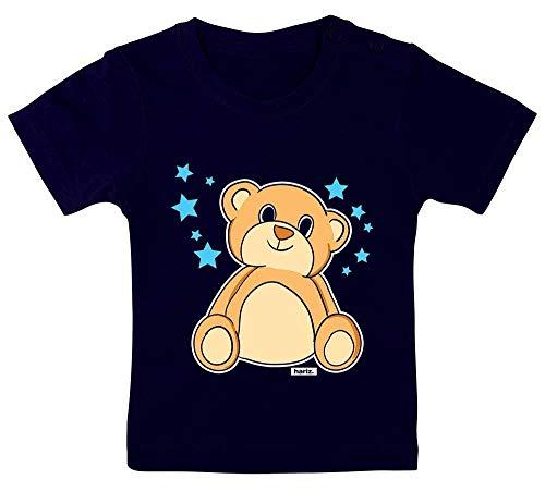 HARIZ Baby T-Shirt Niedlicher Bär Sterne Tiere Kindergarten Plus Geschenkkarten Matrosen Dunkel Blau 3-9 Monate / 60-69cm -