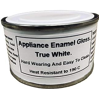 1 x 150ml True White Gloss Fridge, Cooker And Appliance Enamel Paint. Heat Resistant