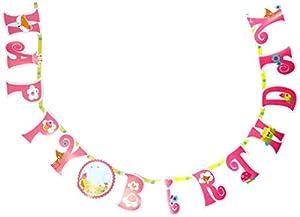 Amscan-1216233,2m x 23cm Woodland Princess añadir una edad Happy Birthday Carta Banner