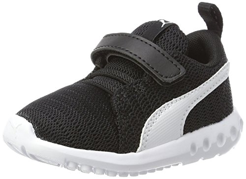 Puma Unisex Baby Carson 2 V Inf Sneaker, Schwarz Black White 2, 27 EU