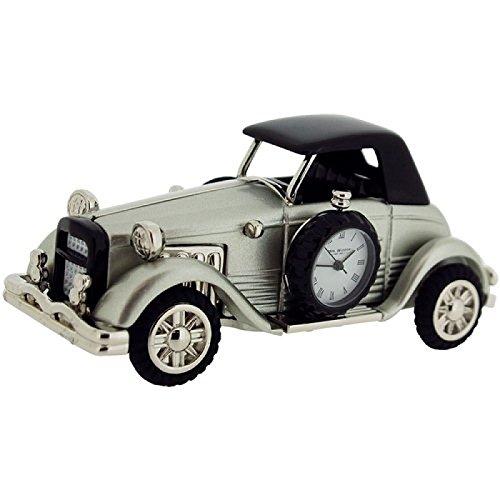 Miniature Silvertone Vecchia auto Desktop collezionisti orologio 9861