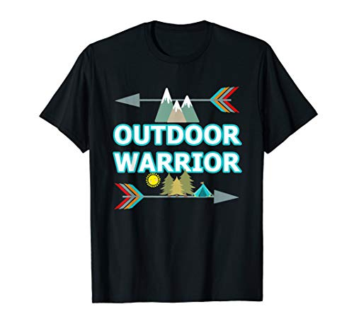 Outdoor Warrior Cute Camping Hiking Gift Road Trip Camper  T-Shirt