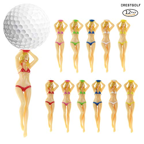 Crestgolf 6pcs / 12pcs Multicolore Sexy Bikini Lady Golf Tees Cadeau Conception en Plastique Golf...