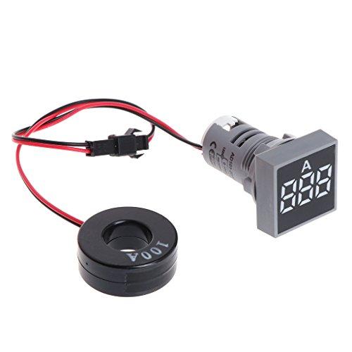 BIlinli 22MM 0-100A Digital Amperemeter Current Meter Indicator Led Lampe Platz Signal Licht -