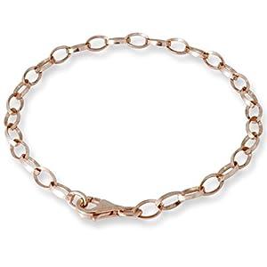 Melina Damen-Armband-Trägerelement Charmskette Armkette 925 Silber rosegold vergoldet 21cm – 1900114