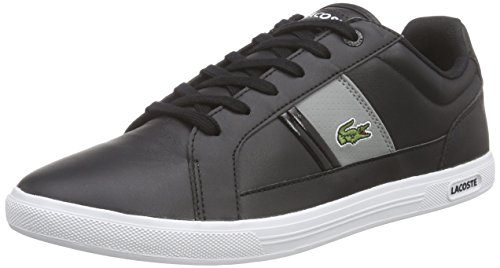 Lacoste Europa Lcr3, Baskets Basses Homme Noir - Multicolour - Mehrfarbig (BLACK/GREY 231)
