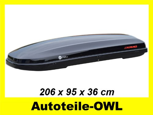 Preisvergleich Produktbild Kamei Dachbox Oyster 450 schwarz-metallic 450 L Duo Lift
