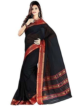 Samskruti Sarees Cotton Saree (Sscs-3_Black)