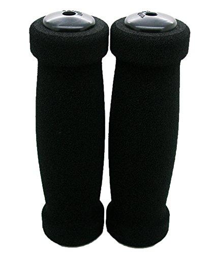 2x-punos-de-espuma-de-neopreno-ergonomicos-con-tapones-para-bicicleta-o-moto-2906negro