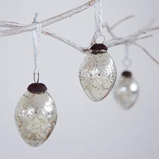 Paper High Efecto Antiguo Cristal Navidad Bola de Árbol Copos Nieve Design-Pack de Tres