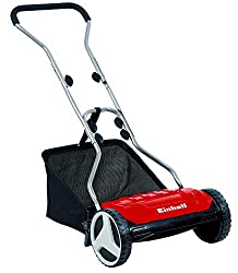 Einhell hand lawn mower GE-HM 38 SF (38cm cutting width, non-contact cutting technology, ball-mowed mowing spindle, large wheels, 26L grass catcher)