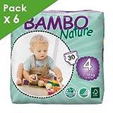 Bambo - BAMBO NATURE 4 Maxi - 8 à 18 kg - Carton de 180 langes
