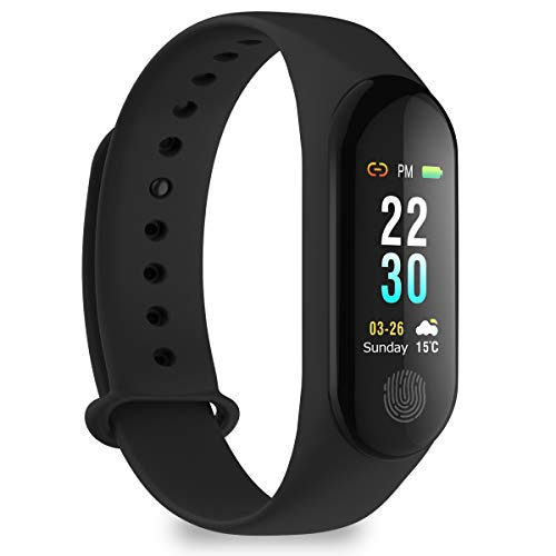 pulsera inteligente HUOU Pulsera inteligente de seguimiento de ritmo cardíaco (negro)