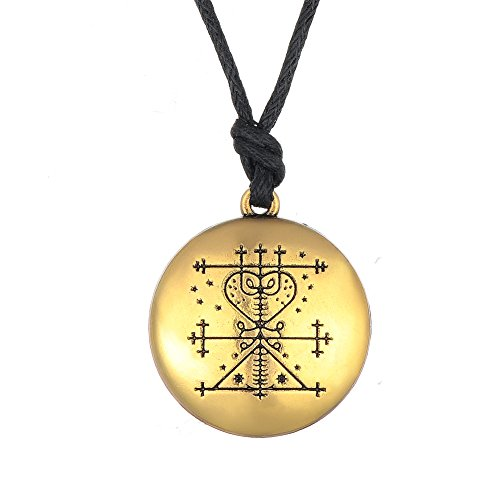 Skyrim Wica Religious Maman Voodoo Money Talisman Wealth Amulet Pendant  Necklace Jewelry for Men Jewelry (Antique Gold)