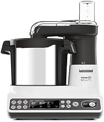 Kenwood kCook Multi CCL401WH - Robot de cocina con procesador de alimentos integrado, color blanco y negro