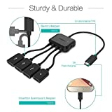Micro Usb HUB Adaptor with Power, TUSITA 3-Port Charging OTG Host Cable Cord Adapter for TV Stick, Raspberry Pi 2 3 Pi Zero Android Smart Phone Tablet Samsung Galaxy HTC Sony Google LG / Linux