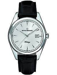 Revue Thommen 21010.2532 - Reloj de pulsera hombre, Cuero, color Negro