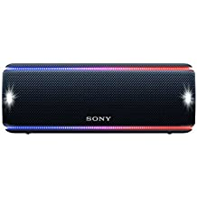 Sony SRSXB31B - Altavoz portátil Bluetooth (Extra bass, modo sonido live, party booster, luces de fiesta llamativas), color negro
