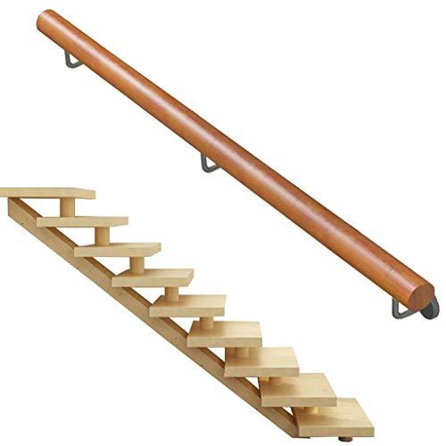 Mehrzweck-Massivholz-Treppengeländer für zu Hause - Holztreppengeländer - Wandhalterung Treppen Bars Villen Bauernhaus Dekoration Geländer