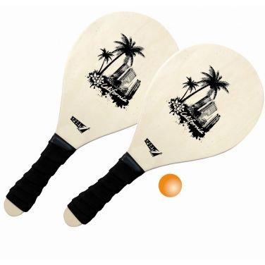 Rachette Tennis Gioco Spiaggia Beach Set California con Sacca