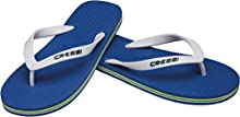 Cressi Unisex-Youth Flip Flops Beach and Pool, Blue/White, 9/10 UK Kids