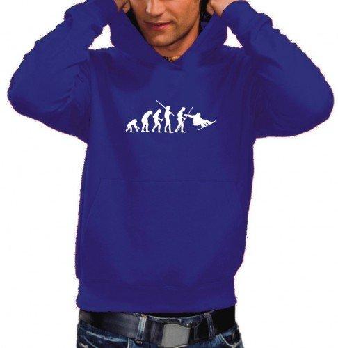 Coole-Fun-T-Shirts Sweatshirt SNOWBOARD Evolution Hoodie, blau, L, 10719_Blau-Hoodie_GR.L