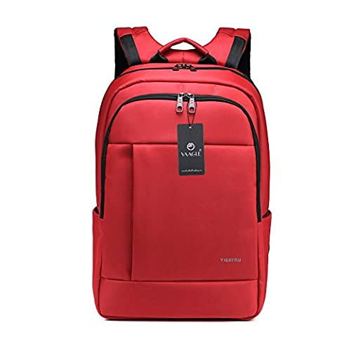 YAAGLE Mens Womens Teenagers Simple Casual Day Pack Business Travel Backpack 17-inch Laptop Backpack Rucksack Schoolbag Red Orange Green