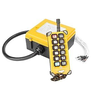 Hilitand Kran-Fernbedienung, Kran-Kettenzug-Drucktaster Heben der Fernbedienung 12 Tasten 1 Sender + 1 Empfänger
