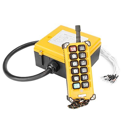 Preisvergleich Produktbild Hilitand Kran-Fernbedienung,  Kran-Kettenzug-Drucktaster Heben der Fernbedienung 12 Tasten 1 Sender + 1 Empfänger
